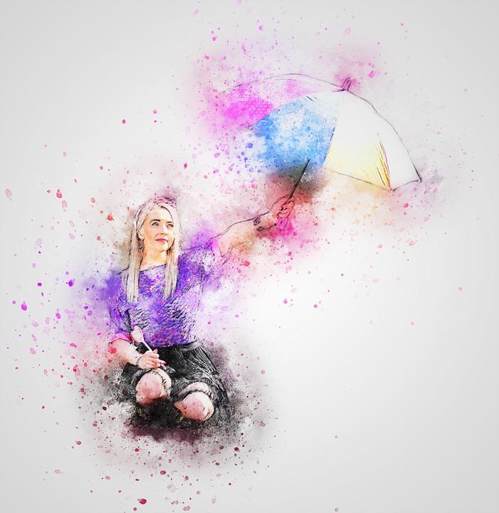 umbrella and girl