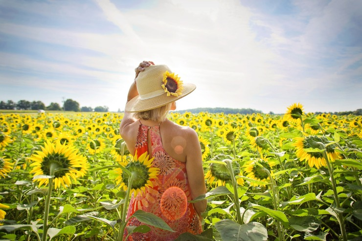 Woman - Sunflowers